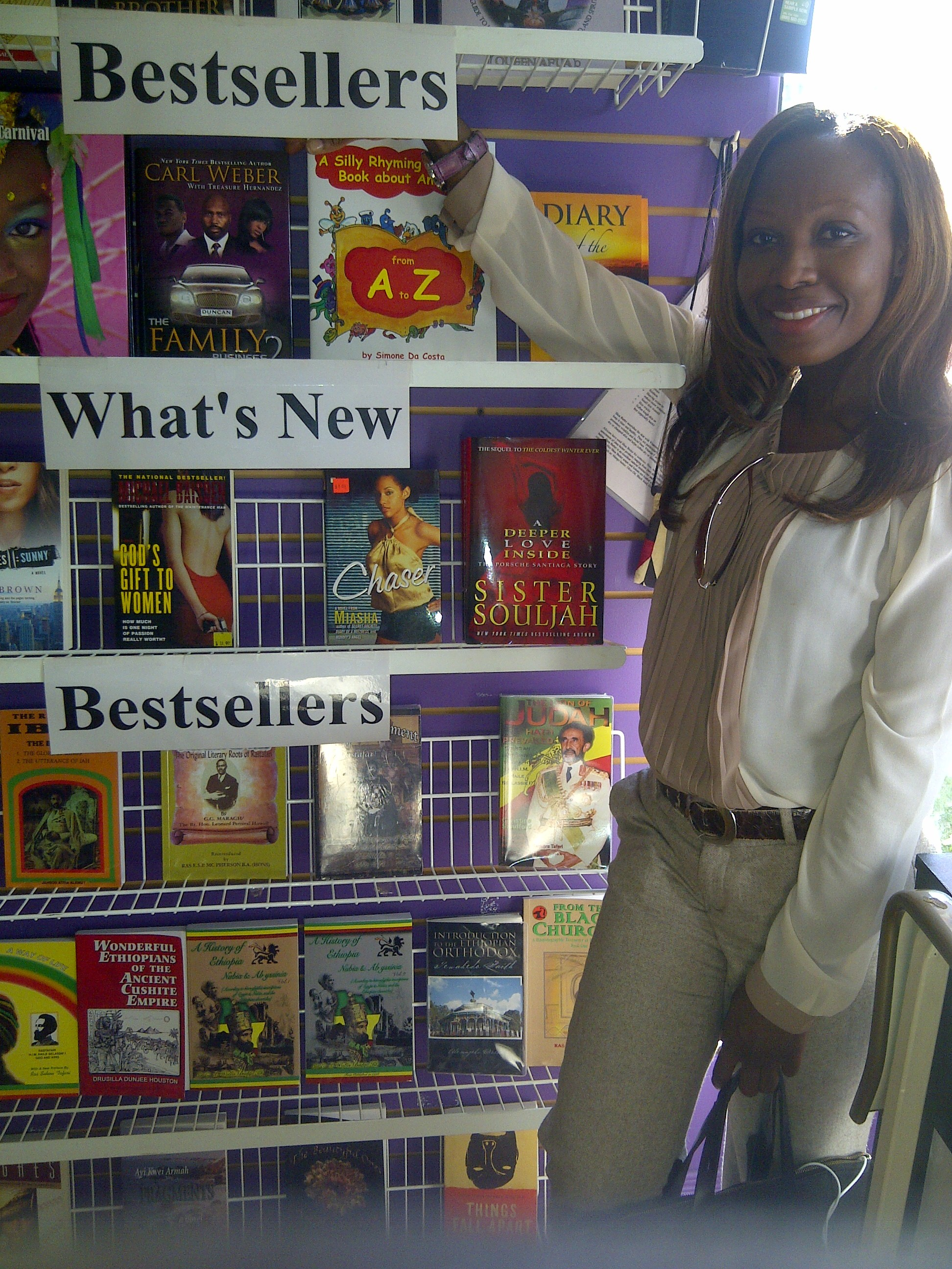 My book at Knowledge Book Store 9 18 2013 - pix 2