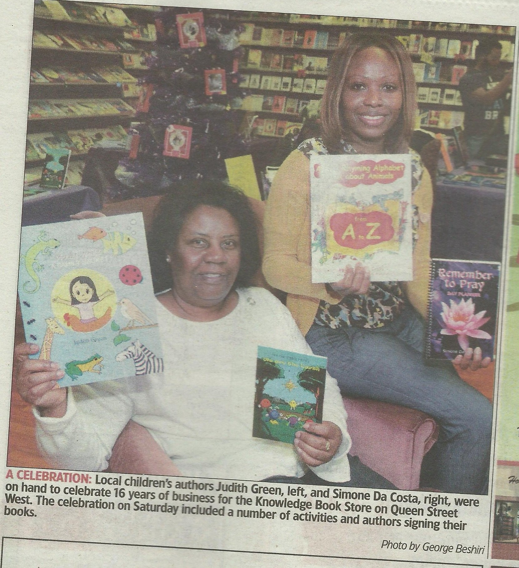 Pix of Me in The Brampton Guardian @ KnowledgeBookstore