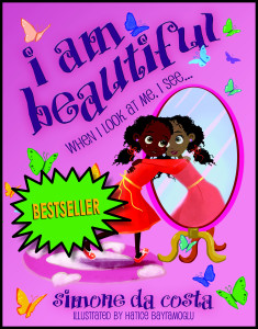 I am beautiful cover with bestselling sticker